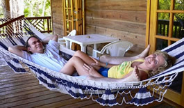 Cabanas, private vacation rentals.